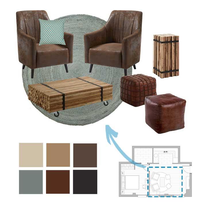 moodboard mobiliari i decoració - Sincro