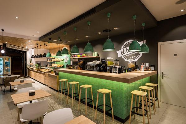 Reforma franquícia fleca cafeteria El Taller