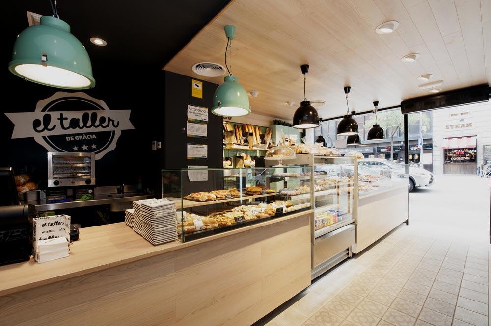 Mostradores panadería y bollería - Diseño interior Sincro | El Taller Gracia