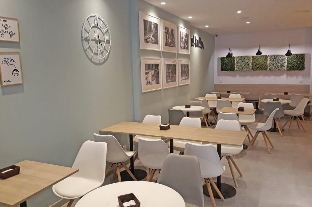 Diseño interior de la zona de mesas El Taller Gràcia