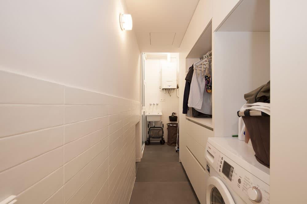 Lavandería galería en blanco