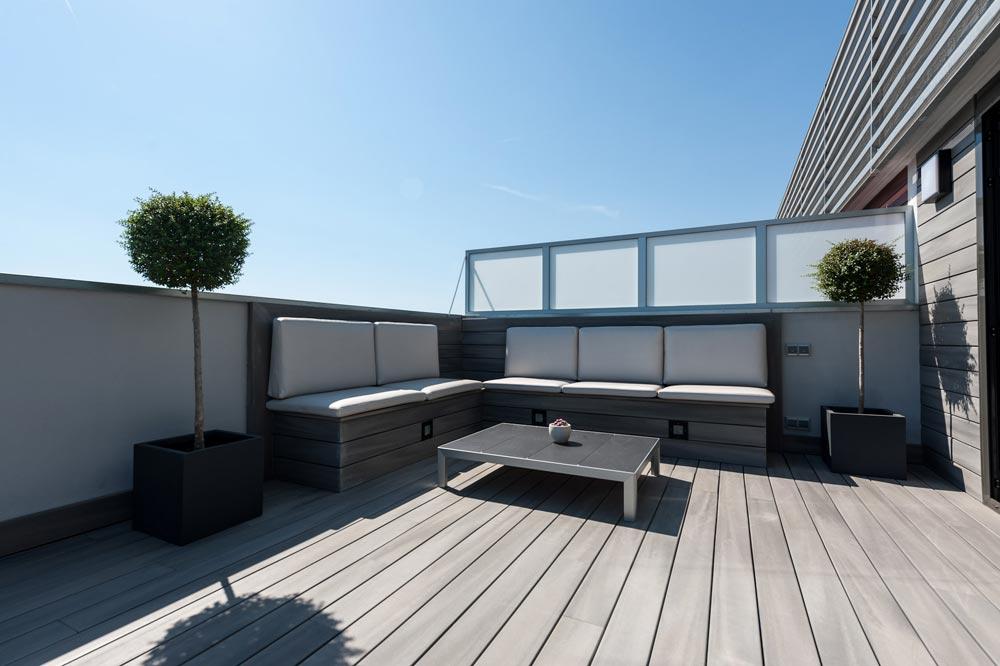 Espacio chill out terraza en Barcelona. Proyecto de reforma.