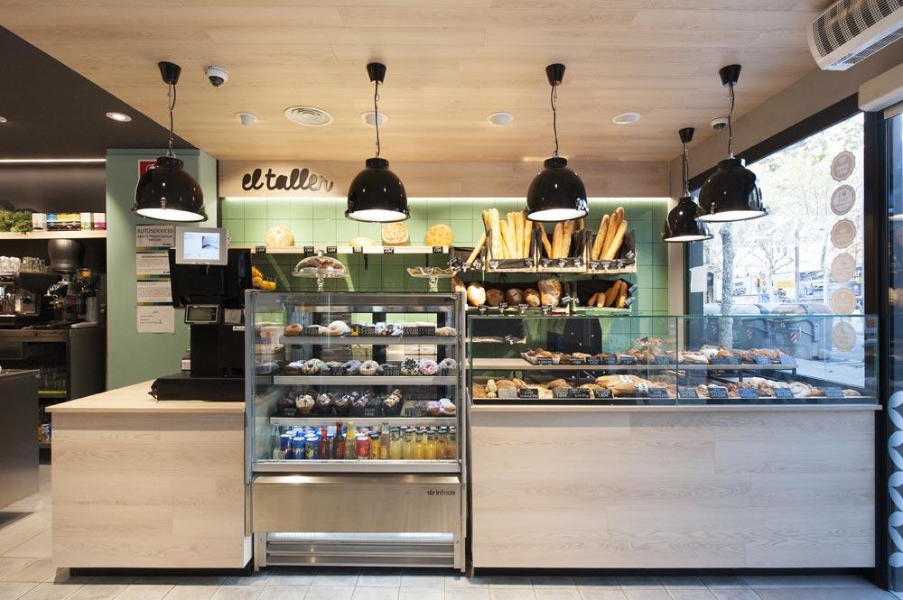 Zona de panadería y bollería de El Taller Paral·lel
