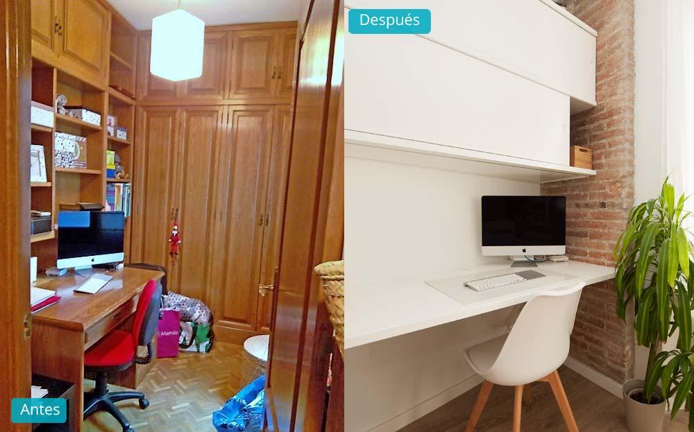 antes y despues despacho reforma piso