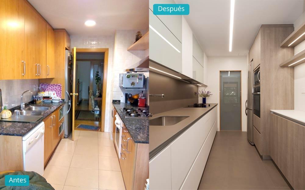 5 antes y despu s de pisos reformados por sincro interiorismo - Cuanto vale una reforma de un piso ...