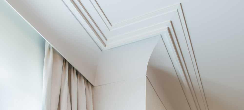 perfiles para cortinas Oac. Molduras modernistas.