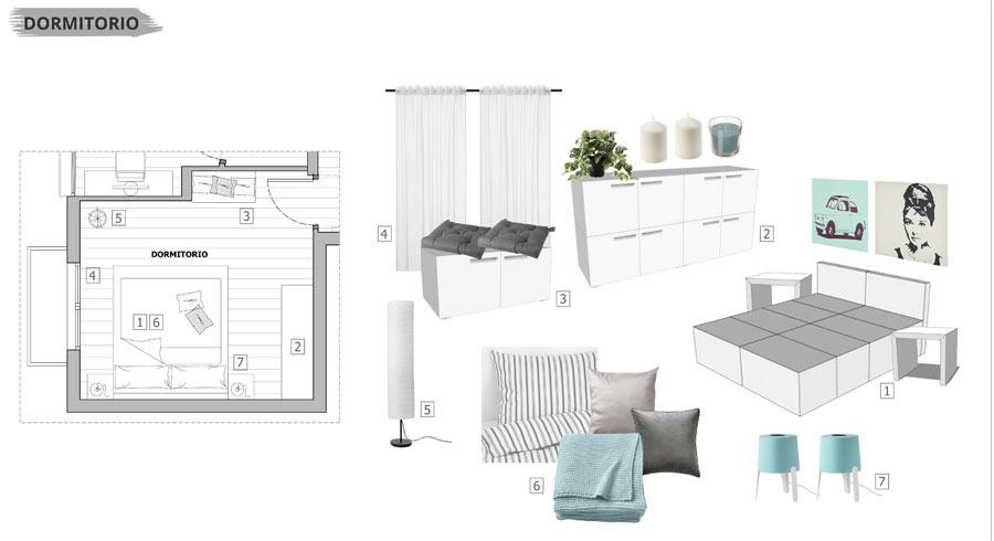 Proyecto de Home Staging con mueble de cartón en un piso en venta - Sincro