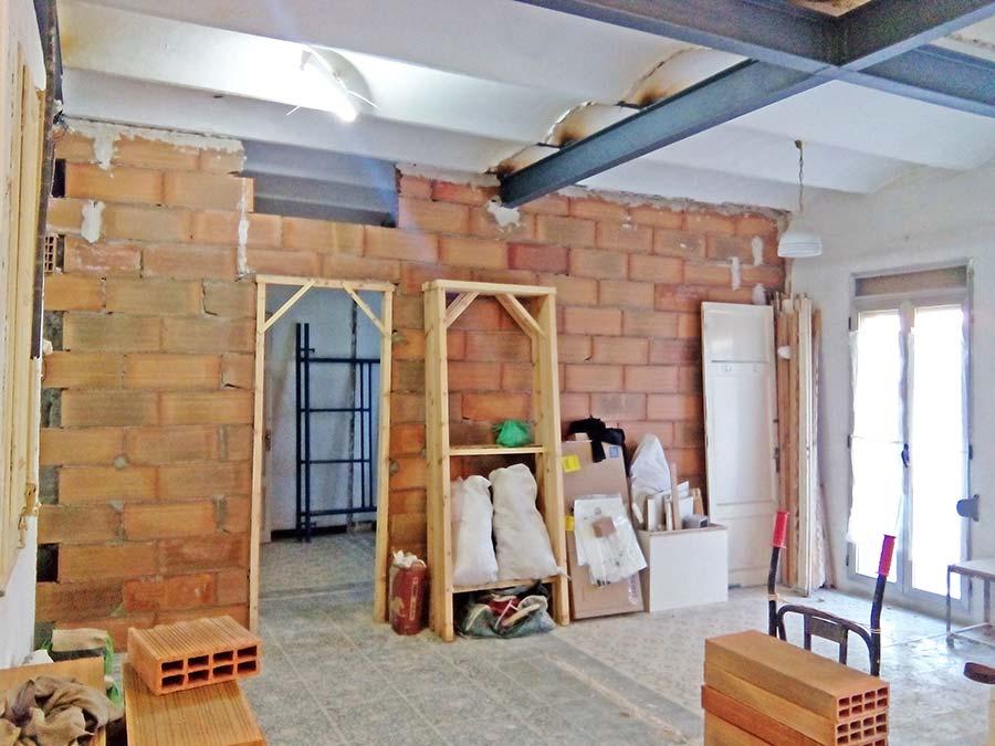 Construcción de tabiques en una reforma de piso - Sincro