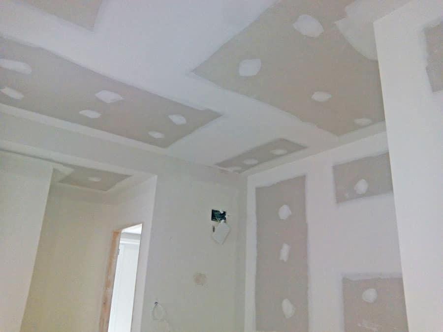 Placas de pladur en paredes y techos.