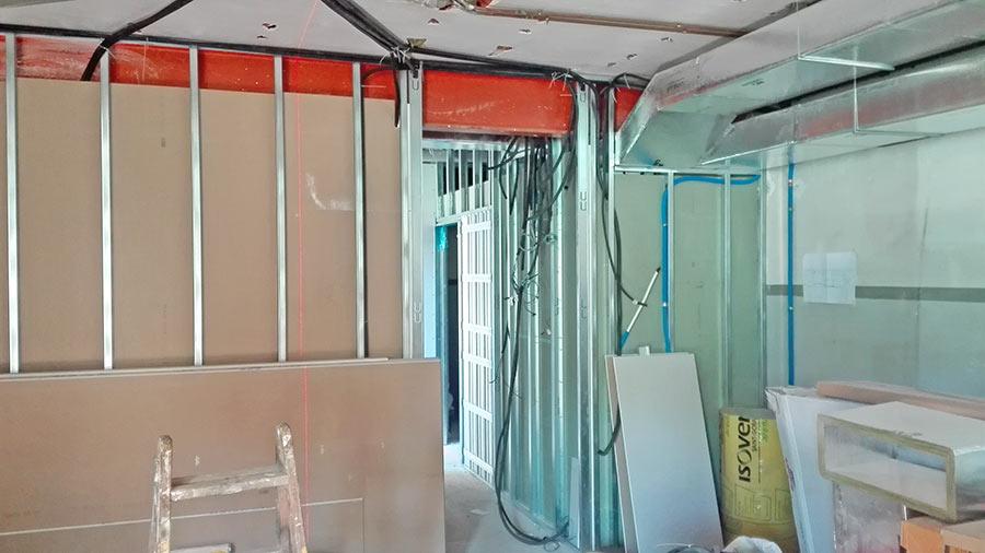 Construcció de parets de pladur - Reformas Sincro