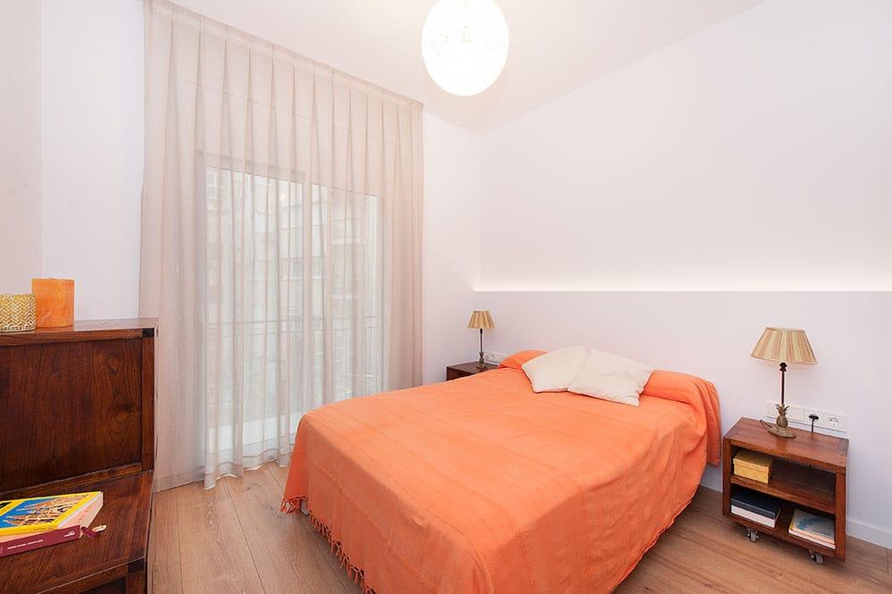 Dormitori principal reformat. Projecte de reforma integral realitzada per Sincro.