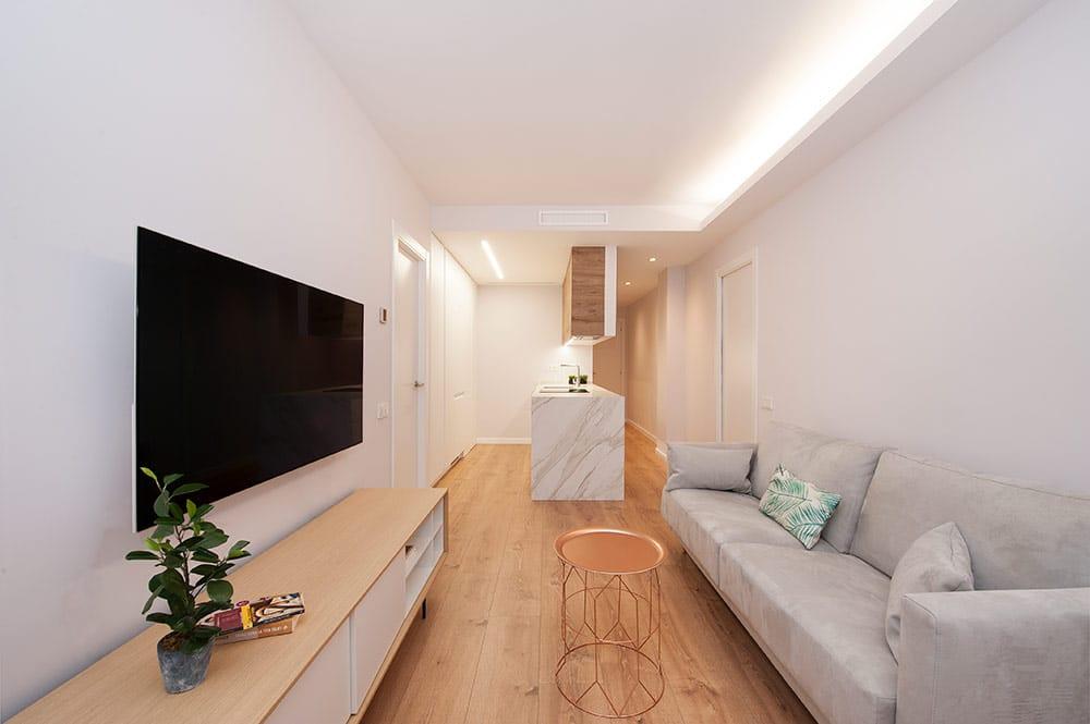 Foseado led espacio abierto cocina salón en uno de los lados - Reforma Sincro