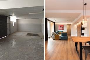 Antes y después reforma de local a vivienda proyecto ``Balmes`` - Sincro