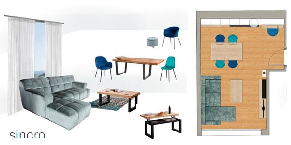 Plànol presentació mobiliari en el saló