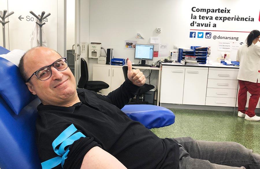 Donación de sangre equipo sincro