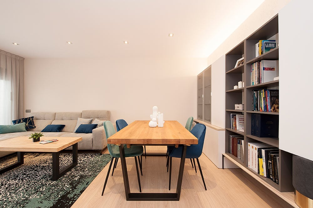 Diseño de mobiliario salón comedor - Sincro