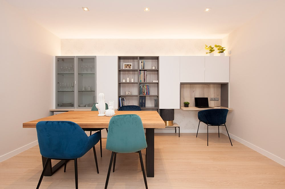 proyecto de mobiliario y decoración salón Sincro