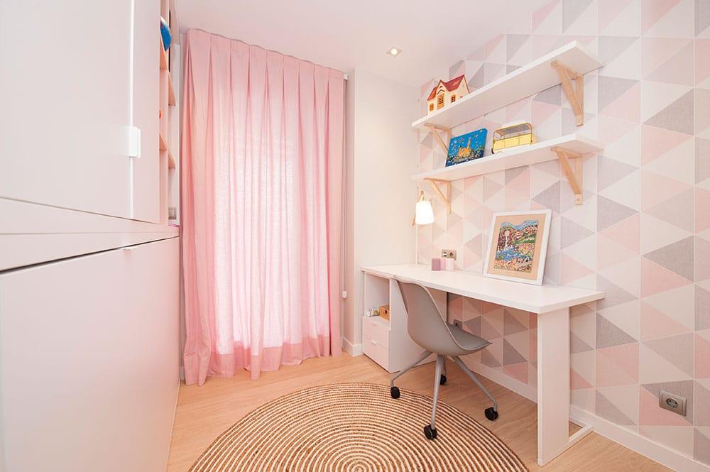 Mobiliario escritorio para habitación juvenil chica