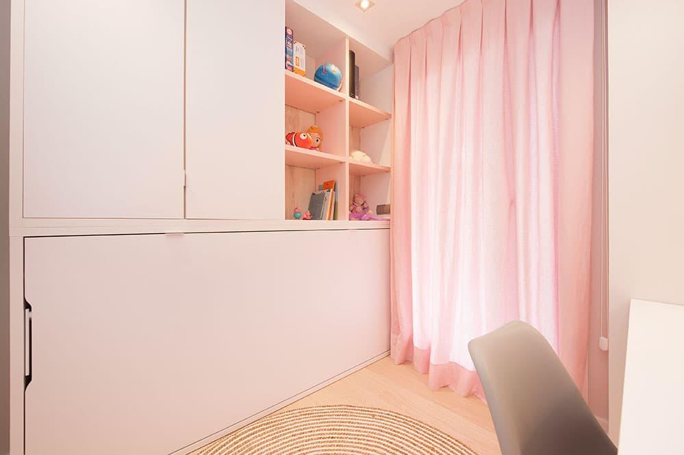 Mueble con cama abatible integrada - Habitación infantil