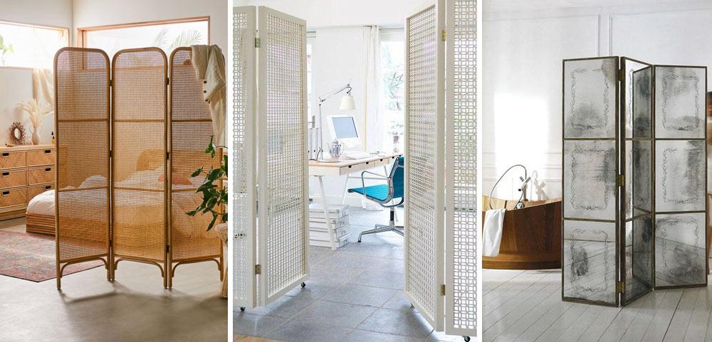 Biombos per dividir espais d'una forma elegant en habitatges.