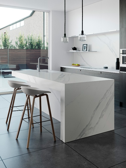 Taulell de cuina marbre blanc Dekton Kichen Opera