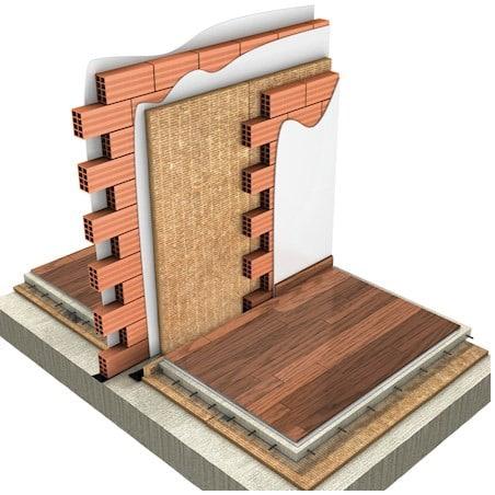 Pared de doble tabique de ladrillo cerámico para la insonorización de paredes