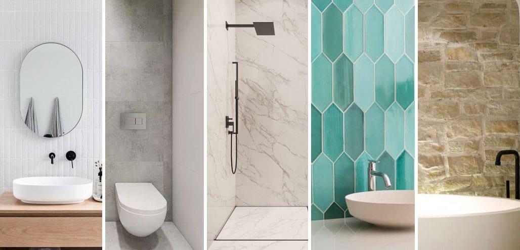 Rajoles per a banys: tipus i idees