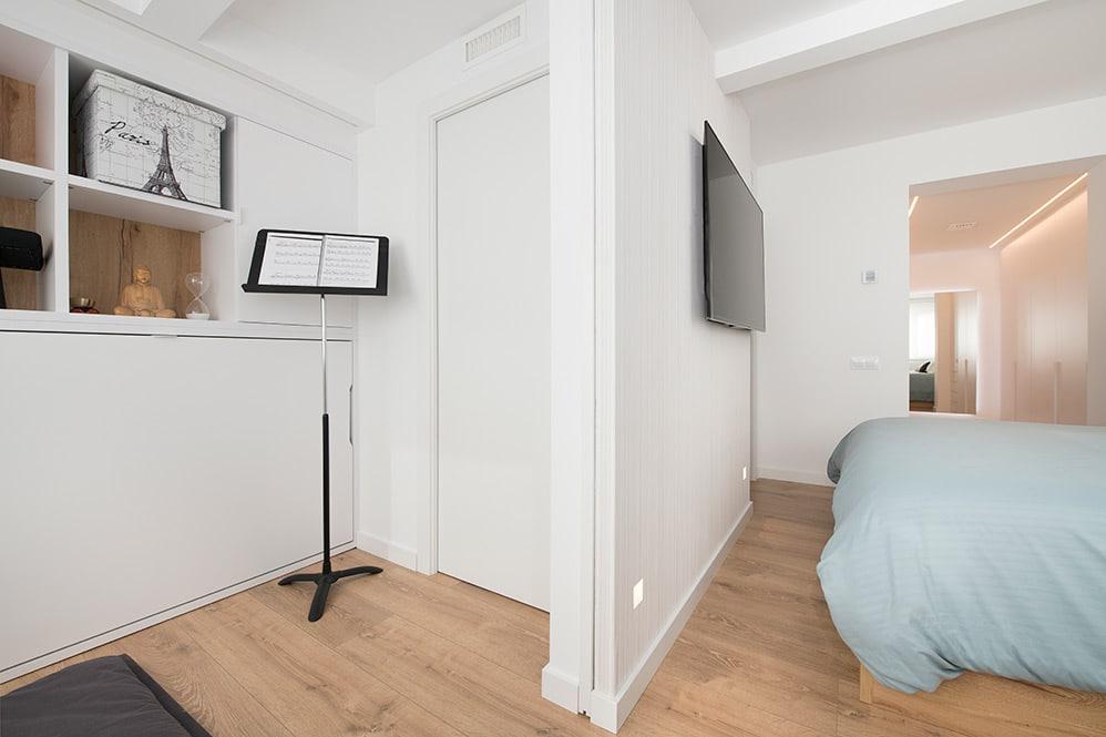 Zona de meditación integrada en el dormitorio