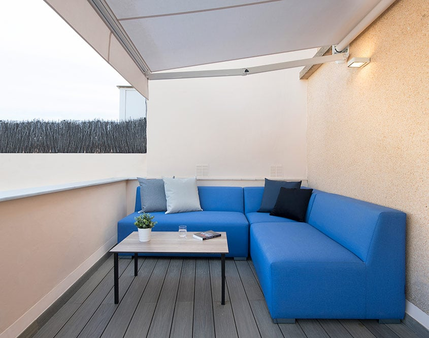 Sofá en L para exteriores terraza vivienda