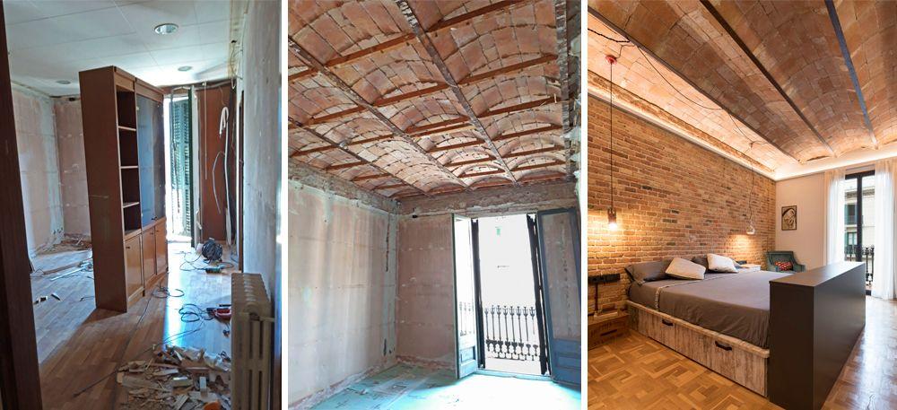 Restauració sostre volta catalana en un pis reformat a Barcelona