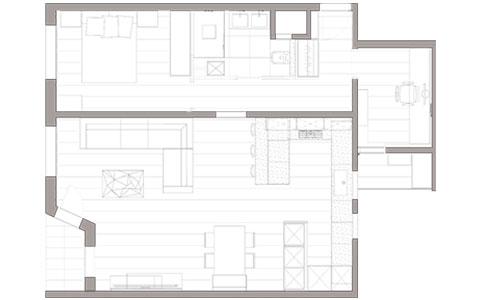 Distribución interior reforma de vivienda en calle Almaden (Hospitalet de Llobregat) - Sincro