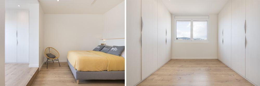 Dormitori amb vestidor i bany privat. Reforma Sincro.
