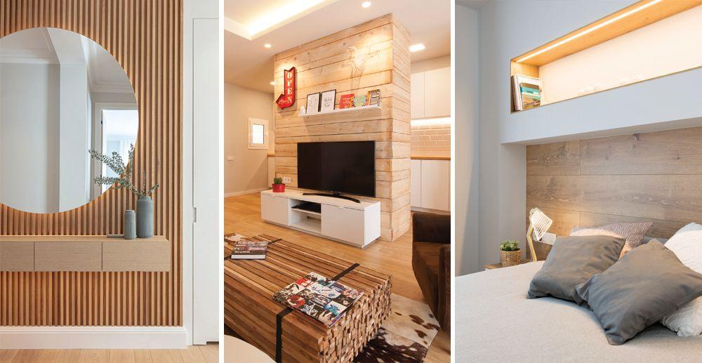 Revestiments de fusta per parets d'interiors