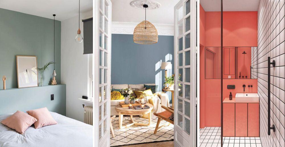 Parets pintades de color en diferents espai de l'habitatge