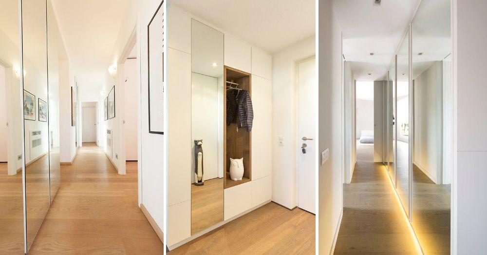 Armaris amb miralls al passadís