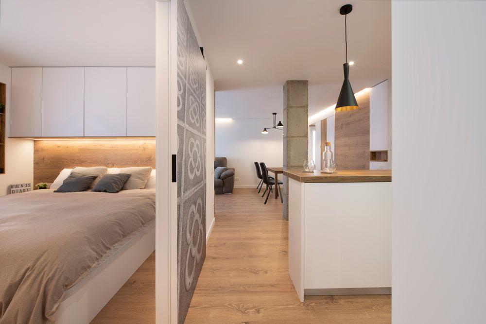 Vistas del pasillo dormitorio y cocina