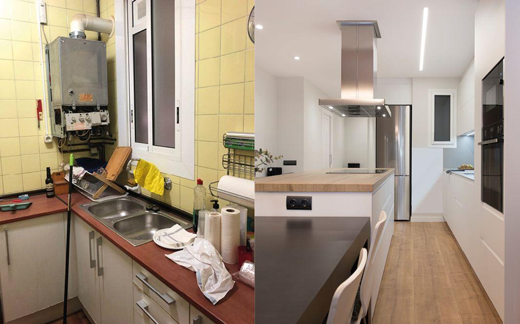 Antes y después cocina en mal estado