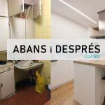 Abans i després reformes cuines dissenyades per sincro