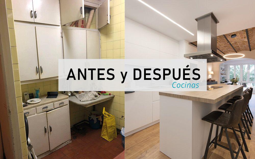 16 antes y después de cocinas reformadas por Sincro